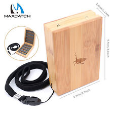 Maxcatch Portable Wooden Bamboo Fly Fishing Flies Box with Lanyard - 96Flies