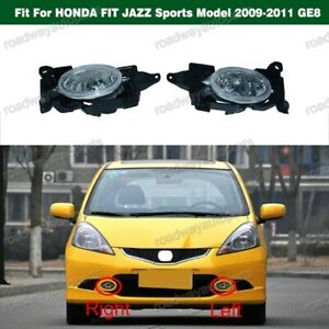 Pair Front Bumper Fog Lamps Light for HONDA FIT JAZZ Sports Model 2009-2011 GE8