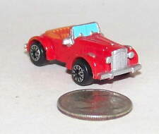 Small Micro Machine Plastic Packard 1940 Darrin Sports Car in Red