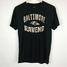 Baltimore Ravens Youth Black Camo Dri-Tek Performance T-Shirt NFL Sz Y LG 14/16