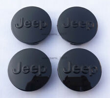 "Jeep Center Caps 4 Set Glossy Black 2.5"" 2-1/2"" 64mm wheel rim hub cap insert"