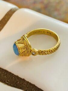 22k kabana opal ring with diamond