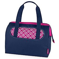 Thermos Raya Lunch Duffle Lunch Bag Tote Insulated Women Girls Navy & Magenta