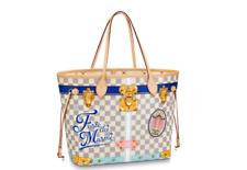 pFORTE DEI MARMI Louis Vuitton Summer Trunk Damier Azur NEVERFULL Bag Tote Purse