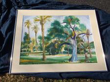 Jae Carmichael,American,California Landscape Watercolor,Los Angeles,Singer Park
