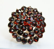 Gorgeous 14K Yellow Gold 2 TCW Garnet Cluster/Cocktail Ring