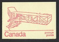 Canada BK74a Caricature 1c, 6c, 8c (book of 6, DF), 1914 Burgess Dunne cover, VF