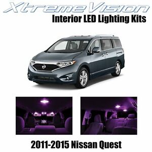 XtremeVision Interior LED for Nissan Quest 2011-2015 (8 PCS) Pink