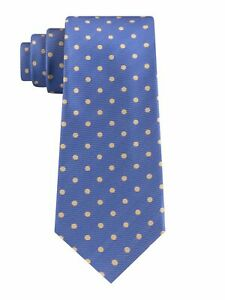 TOMMY HILFIGER Mens Light Blue Polka Dot Classic Neck Tie