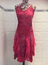 ISLAND GIRL LADIES PINK PATTERNED RUFFLED SUMMER DRESS SIZE SMALL