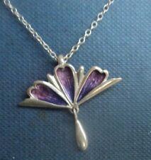Sterling Silver & Enamel Scottish Floral / Flower  Pendant  - Norman Grant 1970s