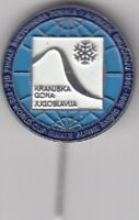 pin badge SKI sport Alpine skiing World cup 1981 Kranjska Gora Yugoslavia