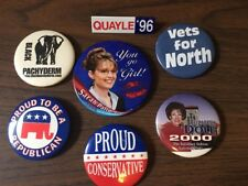 Vintage. Lot Of 7 Political Buttons...Conservative Candidates.