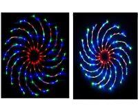 NEW 128 LED CHRISTMAS SPINNER LIGHT MULTI SPIRAL XMAS INDOOR SPINNING DECORATION