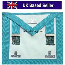 More details for masonic regalia craft worshipful mason wm apron past master lambskin leather new