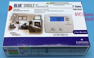 New Emerson Single Stage Non-Programmable Thermostat 1F86-0244  1Heat/1Cool