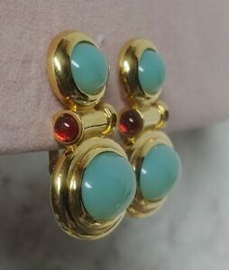 """Elizabeth Taylor for Avon Taylored for Style"""" Mogul Statement Earrings 1.5"""""""