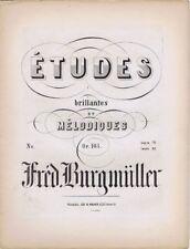 Etudes brillantes Et Melodiques, Op105, Counter Cover, 1850s antique sheet music