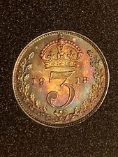 More details for fdc beautiful tone 1918 maundy threepence 3 pence