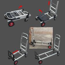 2 in1 Aluminum Hand Truck Convertible Folding Dolly Platform Cart 200kg Capacity