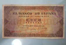 BILLETE 100 PESETAS 1938 BURGOS SERIE G MBC
