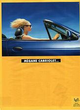 Publicité Advertising 1998  RENAULT MEGANE CABRIOLET ...