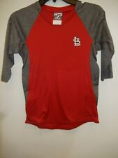 0325 Boys Youth Majestic St Louis Cardinals 3/4 Sleeve Baseball Jersey Shirt Red
