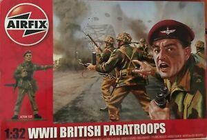 """AIRFIX 1/32 WW2 BRITISH """"RED DEVILS""""  SET OF 14 FIGURES"""