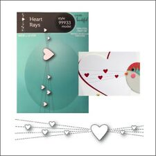 Heart Border metal dies Stitched Heart Rays Memory Box cutting die 99933