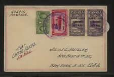 Panama  overprinted stamps on cover to US                 KL0718