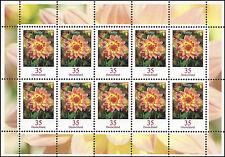 Dahlie 35 Cent Zehnerbogen postfrisch – Dauerserie Blumen 10er-Bogen – 2505