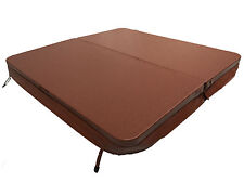 Brown Hot Tub Cover 2200mm x 2200mm Deluxe Heat Lock