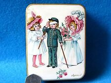 Russian LACQUER Box CUTE Children: Girls & injured soldier Boy Hand painted GIFT