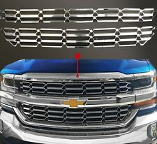 2016-2019 Chevy Silverado 1500 Grill Overlay Cover Inserts CHROME Grille Snap ON