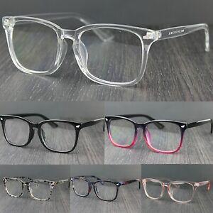 Unisex Classic Square Lens Fashion Glasses Plastic Frame