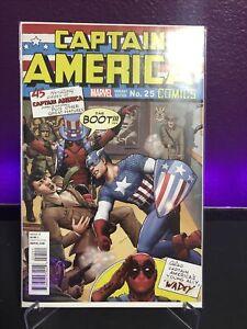 Captain America #25 1:25 John Tyler Christopher Marvel 75 years Deadpool Variant