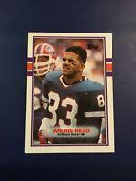 1989 Topps # 52 ANDRE REED Buffalo Bills Football Card SHARP LOOK !