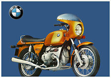 BMW Poster R90S 1973 1974 1975 1976 Suitable to Frame