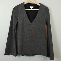 [ WITCHERY ] Womens Metallic L/S V/Neck Top | Size XS or AU 8 / US 4