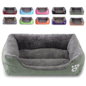L/XL/XXL/XXXL Pet Bed Warm Fluffy Nest Dog BedNest Cat Puppy Mattress Fur Pad UK