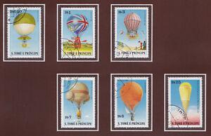 SaoTome e Principe Nr. 619-624 (kompl.Ausg.) Ballons gestempelt 1979