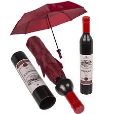 WINE BOTTLE POCKET UMBRELLA Automatic Folding 90cm Umbrella Brolly Fun Novelty