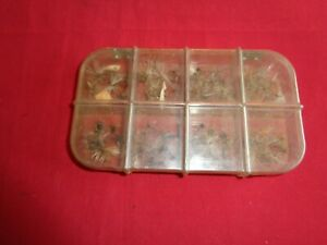 Vintage Richard Wheatley Celluloid Trout Fly Box & Contents. Old Trout Flies.