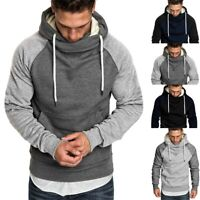Men's Warm Casual Pullover Long Sleeve Hooded Sweatshirt Tops Blouse Shirt yuu