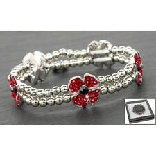 Equilibrium  Silver Plated Poppy  Bracelet 64235
