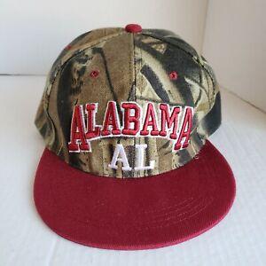 Alabama Camo Hat Snapback Ball Cap AL