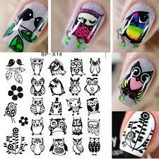 BORN PRETTY 6*6cm Manicure Stencil Nail Art Stamping Image Plates Owl BP-X14