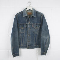 Vintage LEVI'S RARE BIG E Blue Trucker Denim Jacket Size Mens Small /R57027