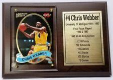 University Of Michigan Wolverines Chris Webber Basketball Card Plaque