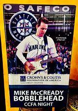 Mike McCready 1st Bobblehead 2011 Seattle Mariners CCFA Night SGA  PEARL JAM